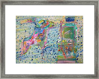 Framed Print featuring the painting From The Altered City by Fabrizio Cassetta