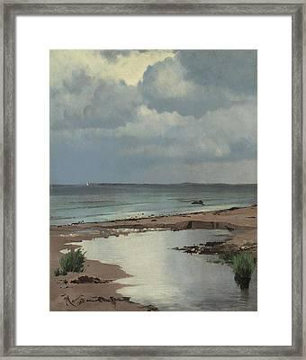 From The Beach At Hornbaek Framed Print
