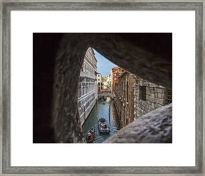 From The Bridge Of Sighs Venice Italy Framed Print by Rick Starbuck