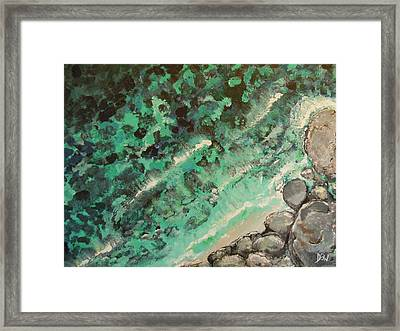 Framed Print featuring the painting From The Cliff by Dan Whittemore