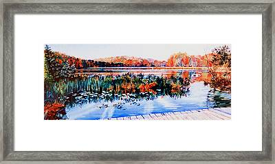 From The Dock Framed Print by Hanne Lore Koehler