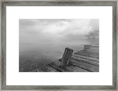From The Dock Framed Print by Sara Hudock