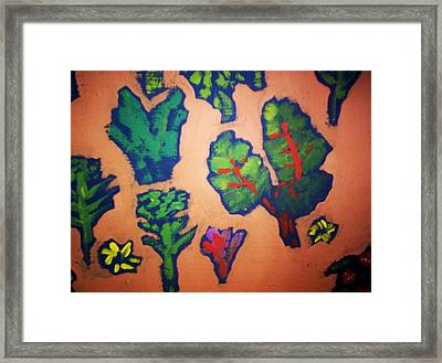 Framed Print featuring the painting From The Earth 2 by Winsome Gunning