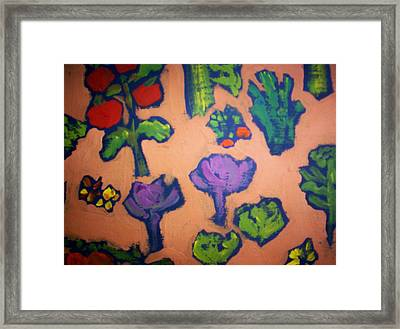 Framed Print featuring the painting From The Earth by Winsome Gunning