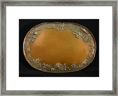 From The Foothills Bronze Tray Framed Print by Dawn Senior-Trask
