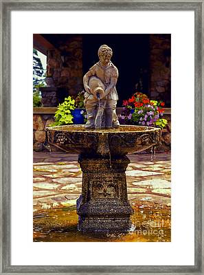 From The Fountain Framed Print