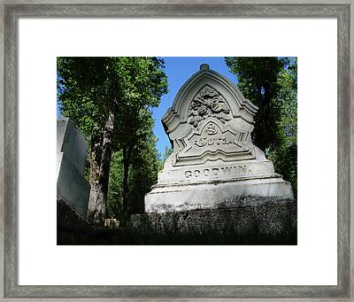 From The Grave No2 Framed Print
