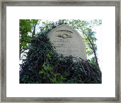 From The Grave No3 Framed Print