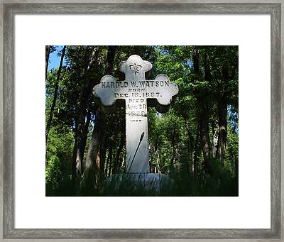 From The Grave No4 Framed Print