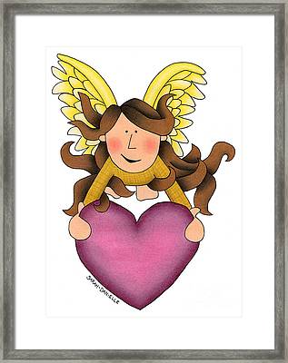 From The Heart Framed Print by Sarah Batalka