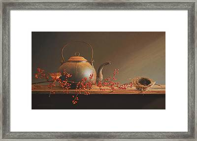From The Hearth Framed Print