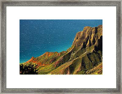 Framed Print featuring the photograph From The Hills Of Kauai by Debbie Karnes