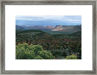 From The La Sal Mountains Framed Print by Stan and Anne Foster