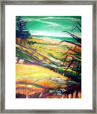 Framed Print featuring the painting From The Lawn Pandanus by Winsome Gunning