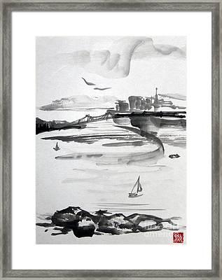 From The Marina Framed Print