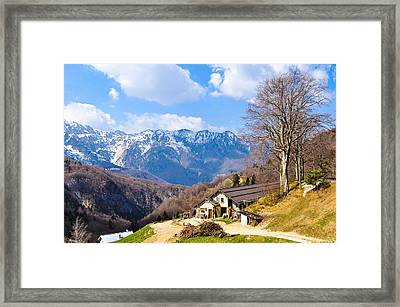 From The Road Framed Print