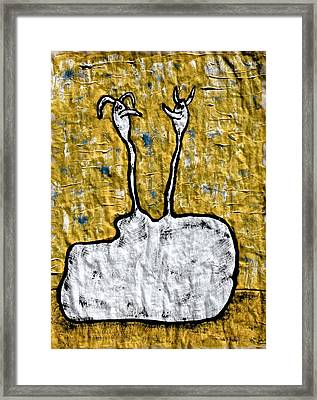 From The Same Cloth Framed Print by Mario Perron