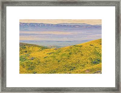 Framed Print featuring the photograph From The Temblor Range To The Caliente Range by Marc Crumpler
