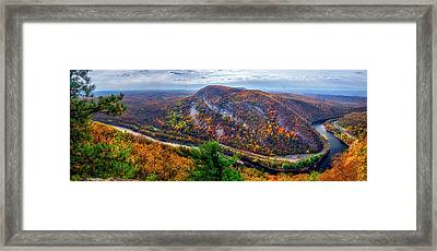 Framed Print featuring the photograph From The Top Of Mount Tammany by Mark Papke