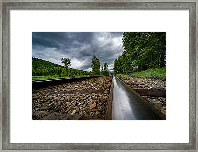 Framed Print featuring the photograph From The Track by Darcy Michaelchuk