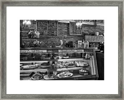 From Tobacco To Food In Black And White Framed Print