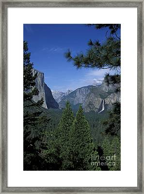 Framed Print featuring the photograph From Tunnel View In Spring by Stan and Anne Foster