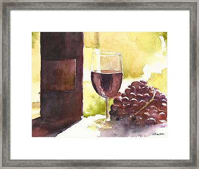 From Vine To Glass Framed Print