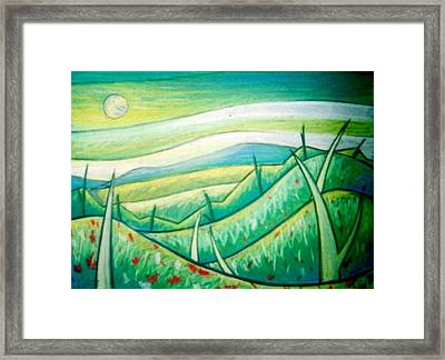 From West Mountain Looking East  Framed Print by Jason Charles Allen