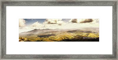 From Zeehan To Trial Harbour Framed Print