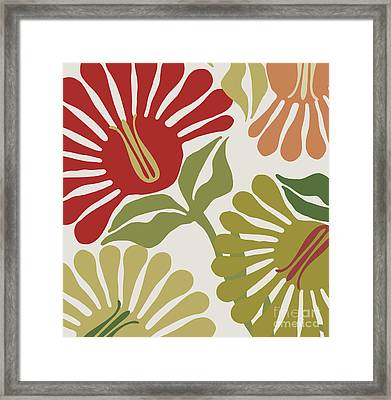 Frond Flowers Framed Print by Mindy Sommers