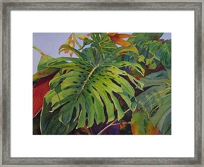 Fronds And Foliage Framed Print by Judy Mercer