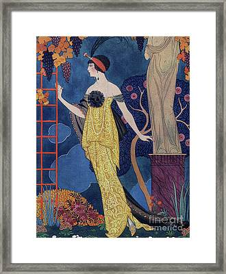 Front Cover Of Les Modes Framed Print by Georges Barbier