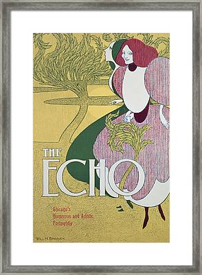 Front Cover Of The Echo Framed Print by William Bradley