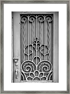 Front Door Detail Framed Print by Colleen Kammerer