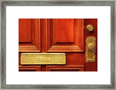 Front Door French Quarter Framed Print