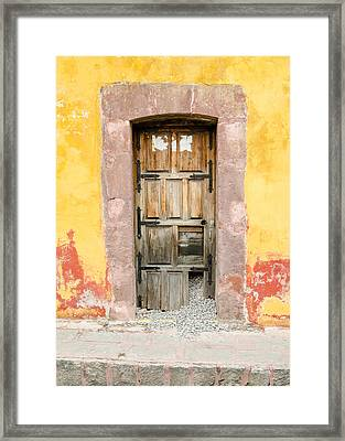 Front Door. Gravel Escaping. Framed Print by Rob Huntley