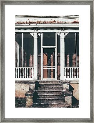 Front Door Of Abandoned Building Framed Print