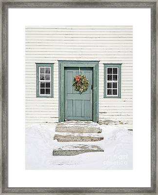 Front Door Of An Old Colonial Home Framed Print