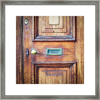 Front Door Framed Print by Tom Gowanlock