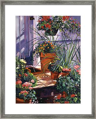 Front Door Welcoming Framed Print by David Lloyd Glover