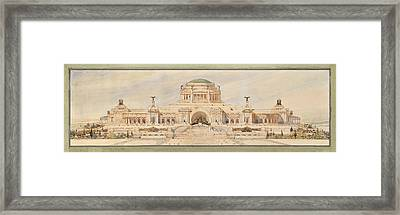Front Elevation For A Monument To The Unknown Soldier, Antonio Sciortino Framed Print