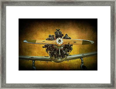 Front End Of A Fairchild Pt-23 Cornell Monoplane Trainer Framed Print by Randall Nyhof