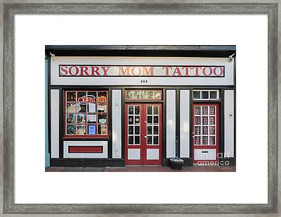 Front Facade Of Tattoo Parlor Framed Print