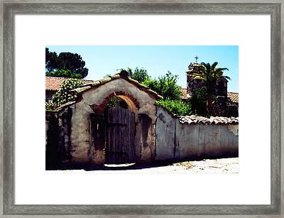 Front Gate -mission San Miguel Framed Print