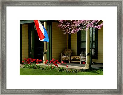Front Porch Framed Print by Lyle  Huisken