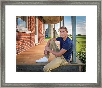 Framed Print featuring the photograph Front Porch Portrait by Bill Pevlor