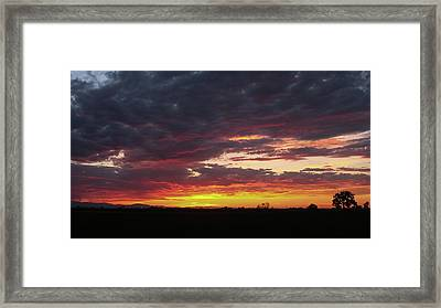 Framed Print featuring the photograph Front Range Sunset by Monte Stevens