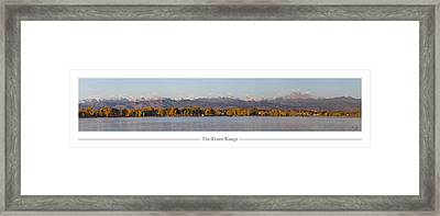 Front Range With Peak Labels Framed Print by Aaron Spong