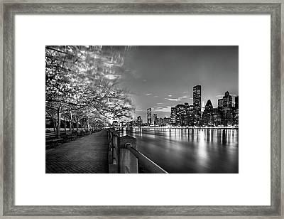 Framed Print featuring the photograph Front Row Roosevelt Island by Az Jackson