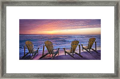Front Row Seats Framed Print by Debra and Dave Vanderlaan